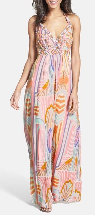 Pretty pastel maxi dress