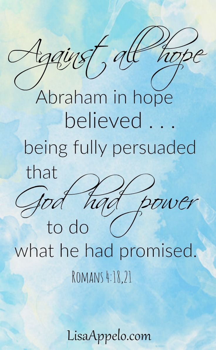 Here's hope when you need faith for the middle of your story.