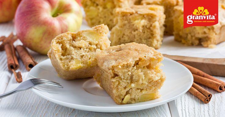 Hoy es día de complacernos con algo delicioso, ¡un rico budín de manzana! Mira la #receta: