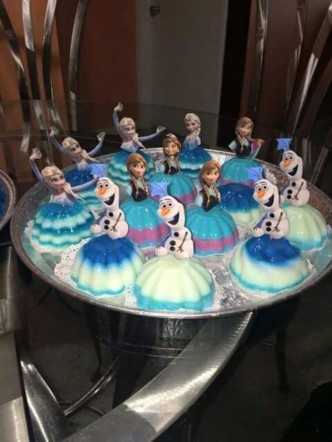 Gelatina para cumpleaños de frozen wow