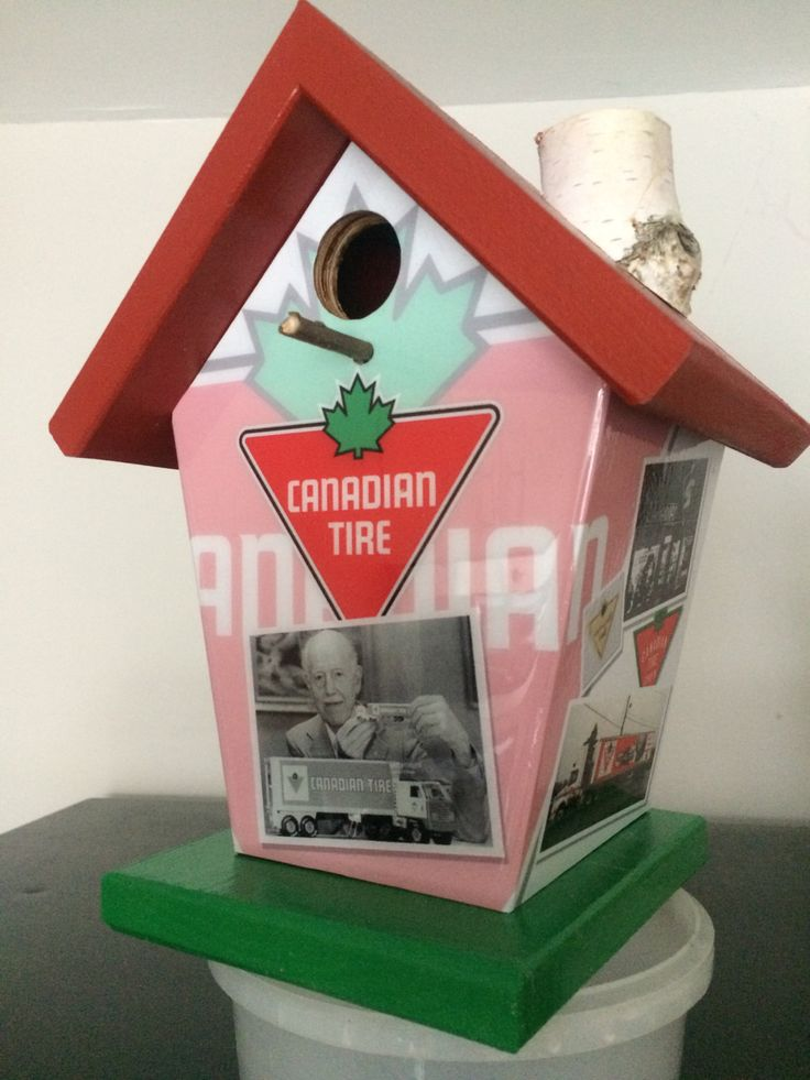 Canadian Tire Retirement Gift Birdhouse by buyabirdhouse on Etsy