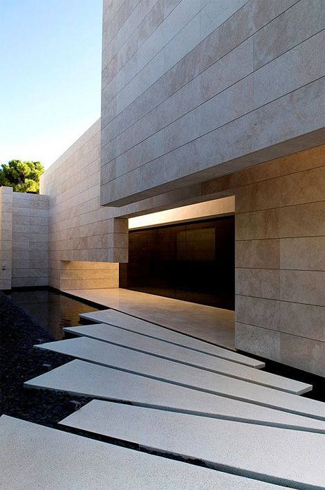 family house (or should that be family fortress) in Marbella, Spain, by A-cero.