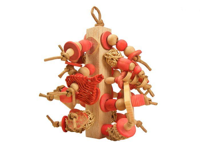 The Spunky Parrot - Cascading Love #birdtoy (http://www.spunkyparrot.ca/toys/cascading-love/)