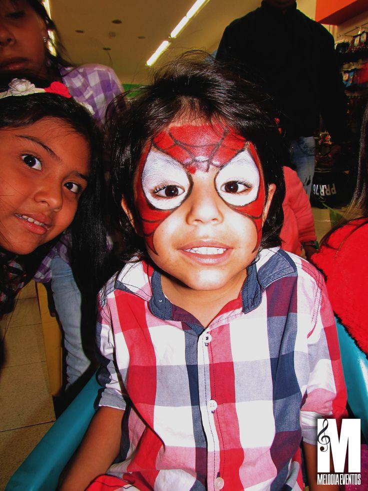 Pintacaritas Spiderman