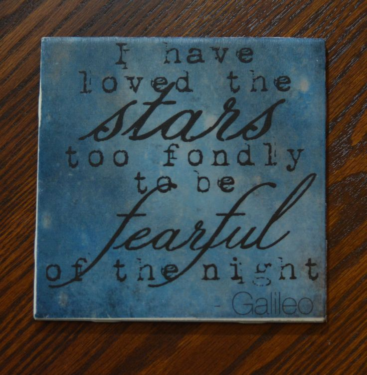 Tile Trivet with Galileo Quote by ClassyGirlsDesign on Etsy