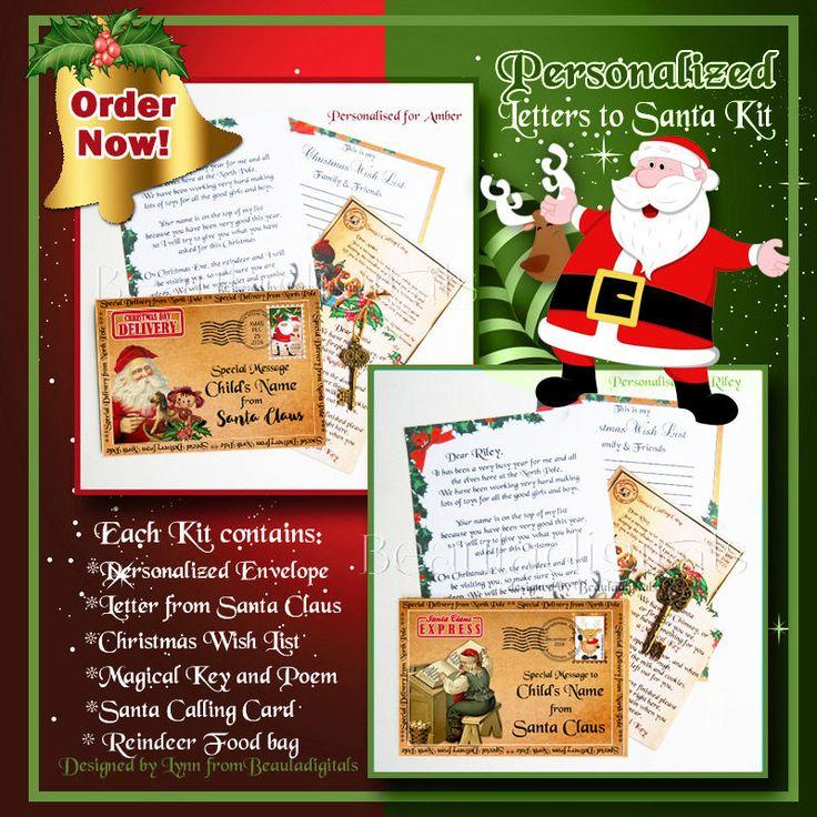 Letter from Santa Kit - Envelope/Scroll Letter/Wishlist/Santa Magic Key & more