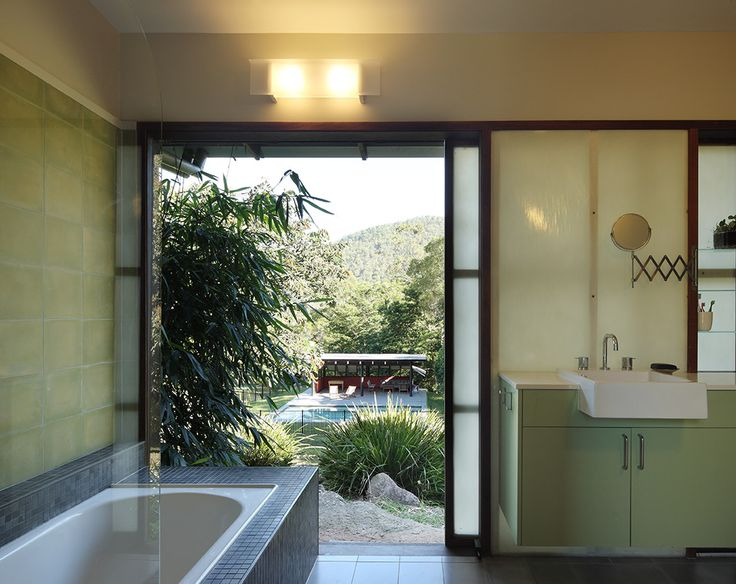 Cedar Creek House: Natural light, passive ventilation and framed views out to the mountains. See more at http://blighgraham.com.au/projects/cedar-creek-house