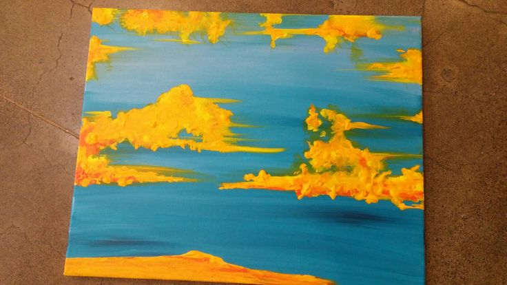 A BOLD beginning on this new painting.  More to come!