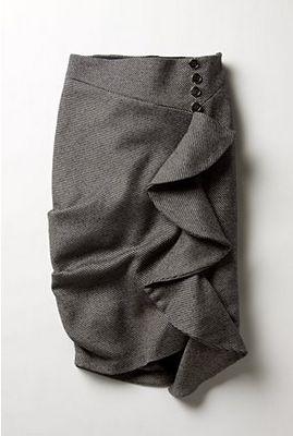 diy ruffle skirt.. love!: Skirts Tutorials, Ruffles Skirts, Ruffle Skirts, Diy Ruffles, Anthropologie Skirts, Skirts Patterns, Pencil Skirts, Ruffles Pencil, Cute Skirts