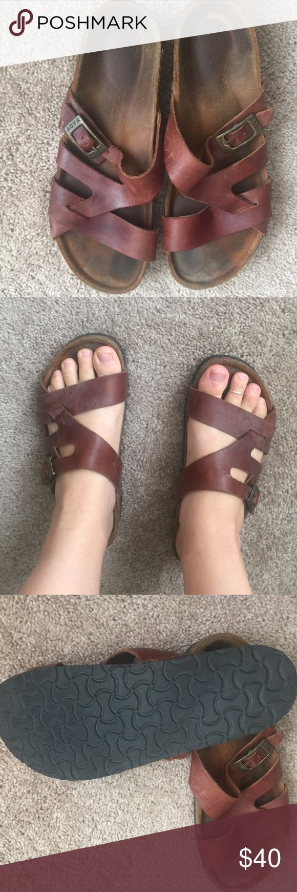 NAOT Sandals NAOT ( just like Birkenstock) same quality, and price as Birks. Cork and leather crafted sandals. NAOT Shoes Sandals