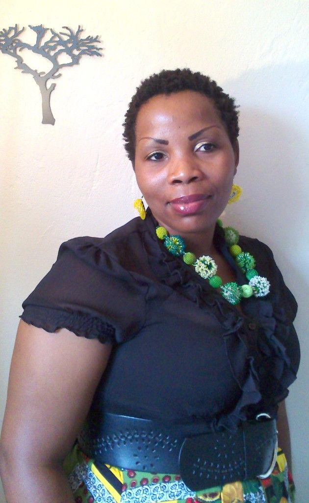 Our lovely Zandi - Zandi works with the beaders taking in their work and doing quality control. www.hillaids.org.za