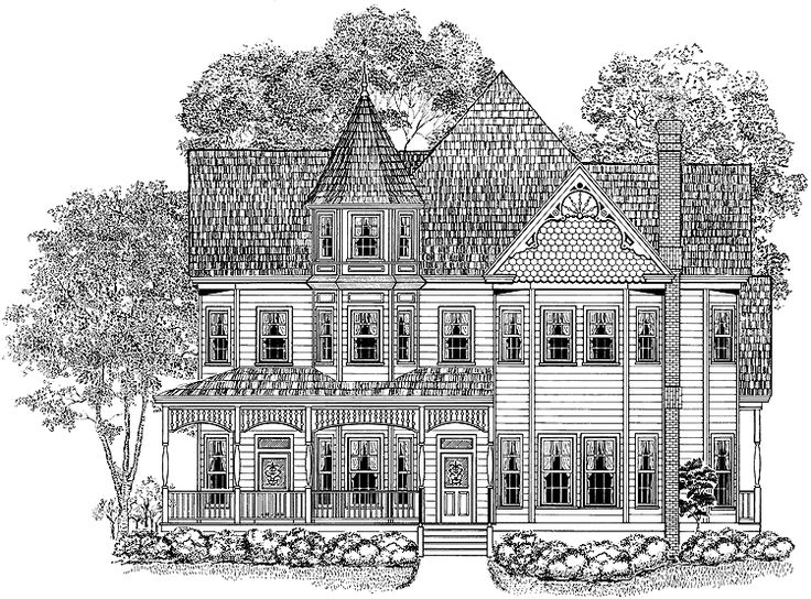 Eplans queen anne house plan splendid spindlework 3724 for One story queen anne