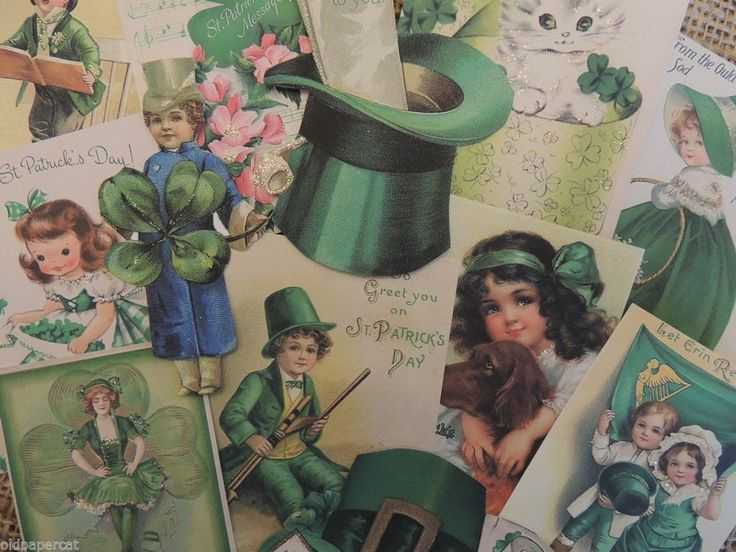 Lot of 12 VINTAGE St. Patricks Day DIE CUTS 4 Card Making ~  Lot P1 - FREE SHIP