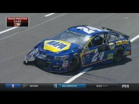 Monster Energy NASCAR Cup Series 2017. FP1 Texas Motor Speedway. Kyle Busch Crash - YouTube