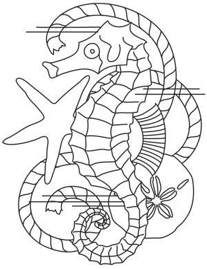 Nauticus - Seahorse design (UTH7944) from UrbanThreads.com