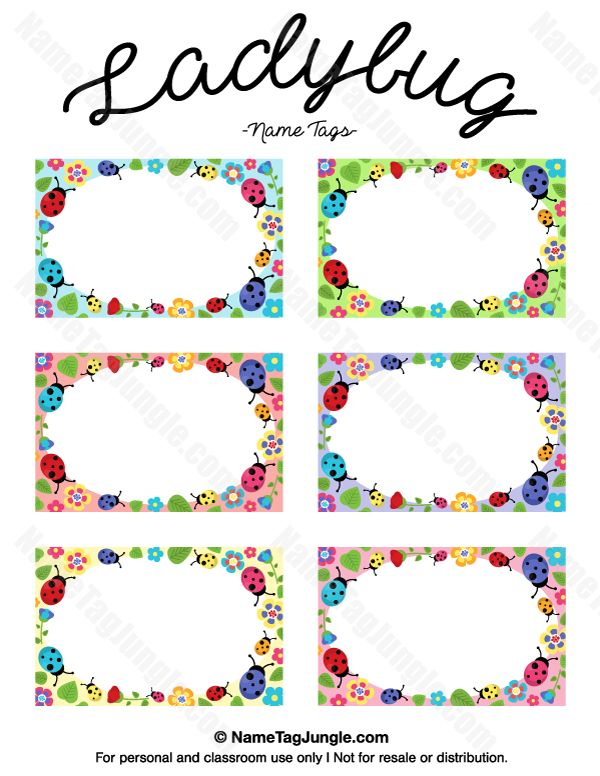 free printable ladybug name tags the template can also be used for creating items like