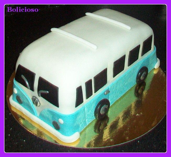 VW bus taart / VW bus cake / https://www.facebook.com/bolicioso