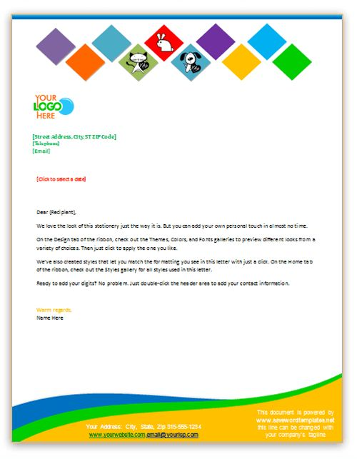 Free Microsoft Word Letterhead Templates Unique 105 Best Stationary Letterheads Business Cards Envelopes Images .