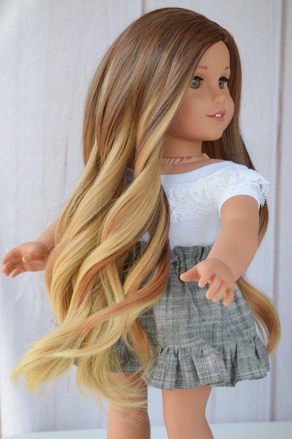 """13/'/' Costom Doll Wig Fit 18"""" American Girl Doll AG OG Gotz Journey Girls Hair"""