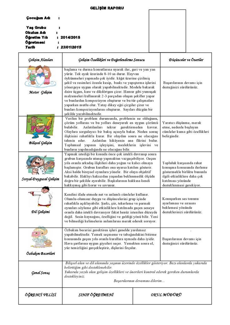 1.Dönem Gelişim Raporu Örneği-2