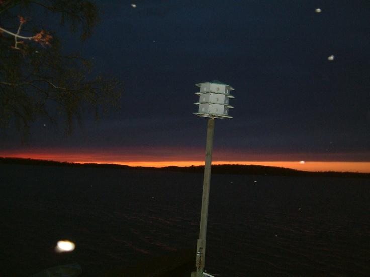 cottage sunset at Rice Lake