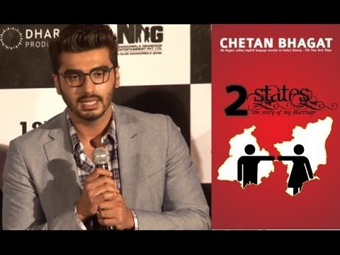 Arjun Kapoor at the theatrical trailer launch of 2 STATES.
