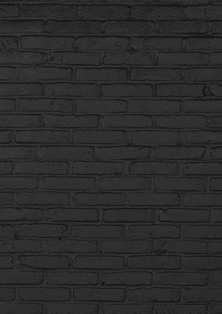 BLACK BRICK WALLPAPER BY PIET HEIN EEK - NLXL LAB - Lime Lace