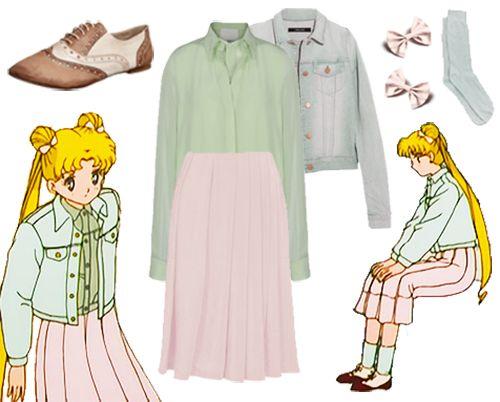 cute, fashion, sailor moon, design, outfit, cordi                                                                                                                                                                                 More