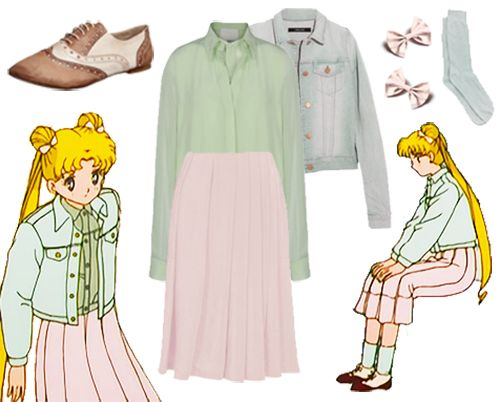 cute, fashion, sailor moon, design, outfit, cordi