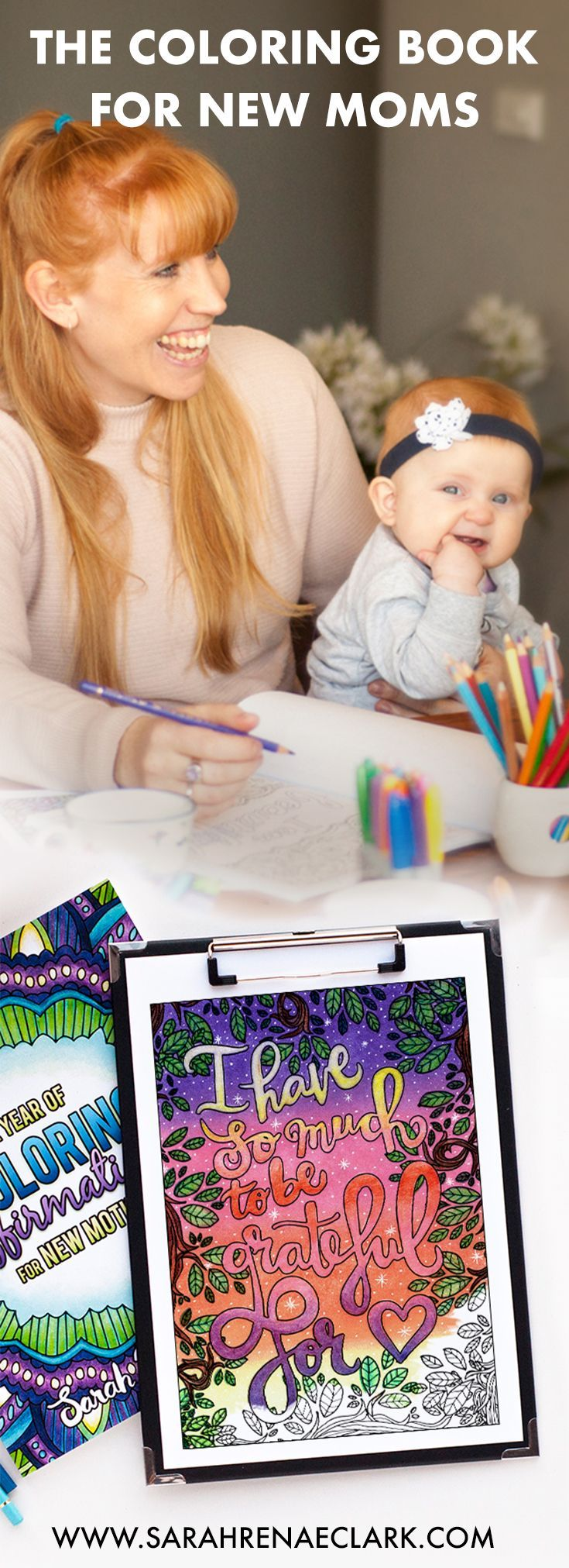 Enjoy a moment of relaxation that fits around your schedule as a new mom. This adult coloring book for new moms is the perfect self-care alternative that encourages you as a mom and nurtures your creative side. Click to find out more!