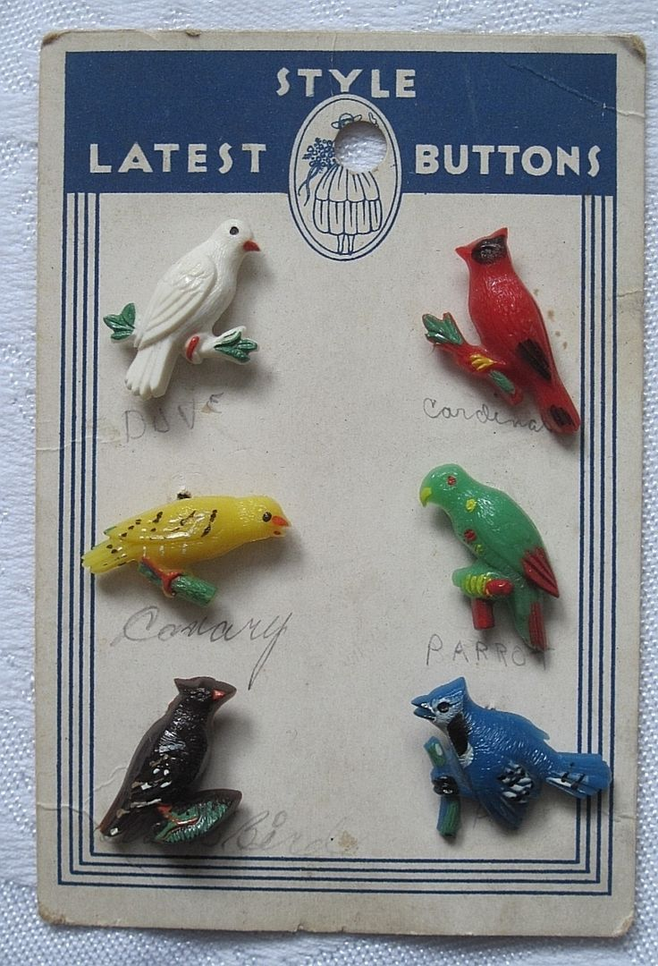 ButtonArtMuseum.com - Bird button goofies...OMG I want these bad!!