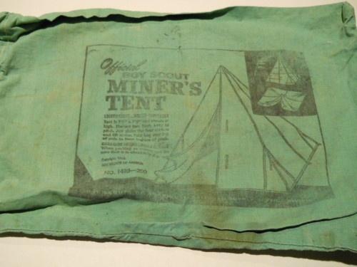 Vintage Official Bsa Boy Scout Miners Canvas Tent 1410