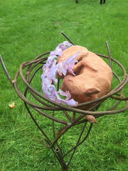 chloerosanna   A Little Crafters Wonder Journal Ceramic sculpture, Squirrel, Welding, Glass