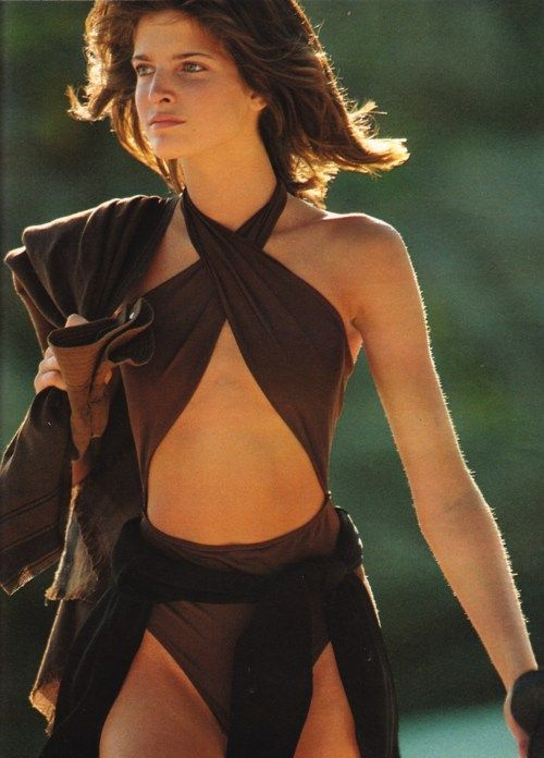 Stephanie Seymour, swimsuit, photographed by Hans Feurer ...
