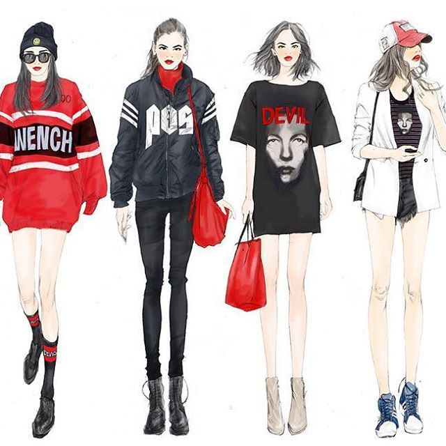 Vẽ người mẫu fashion