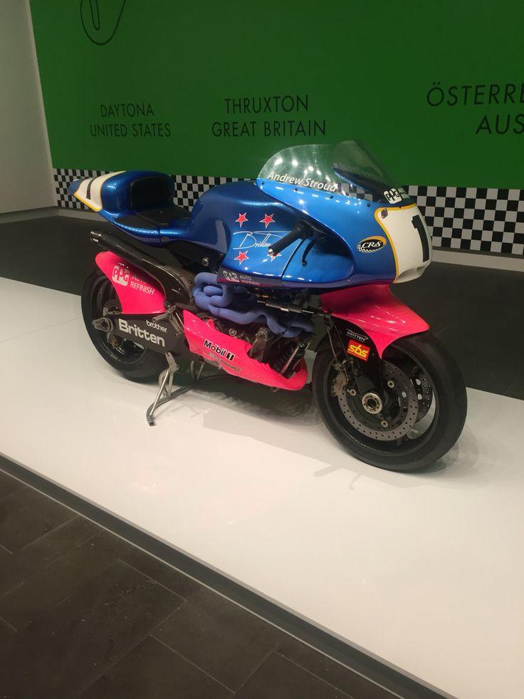 Britten Motorcycle. #JohnBritten #Britten. Christchurch New Zealand. Christchurch Art Gallery #chchartgalery