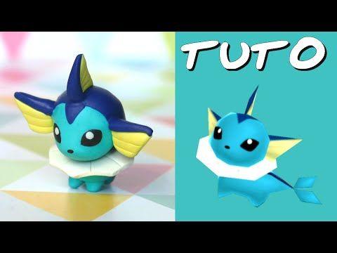 TUTO FIMO | Aquali / Vaporeon (de Pokémon Rumble World) - YouTube