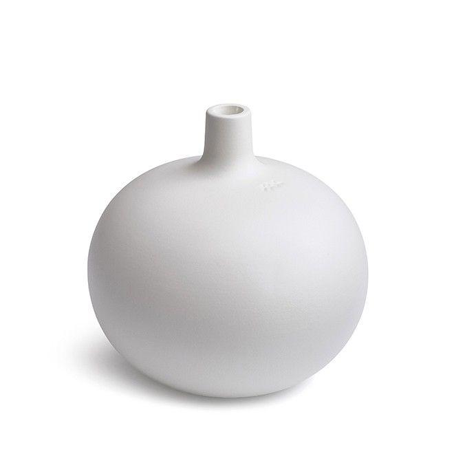 Globo candle holder medium white