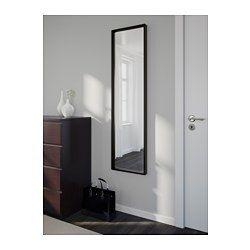IKEA - NISSEDAL, Spiegel, weiß, , Der Spiegel kann mit den beigepackten Scharnieren als Drehspiegel montiert werden.Kann horizontal oder vertikal aufgehängt werden.Mit Sicherheitsfolie - so lässt sich das Verletzungsrisiko minimieren, falls das Glas zerbricht.Für Badezimmer getestet und geeignet - formschön und praktisch in allen Räumen.