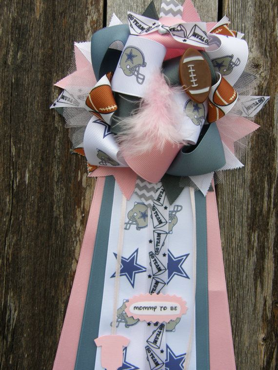 Dallas cowboys baby shower mum by bonbow on Etsy, $19.99