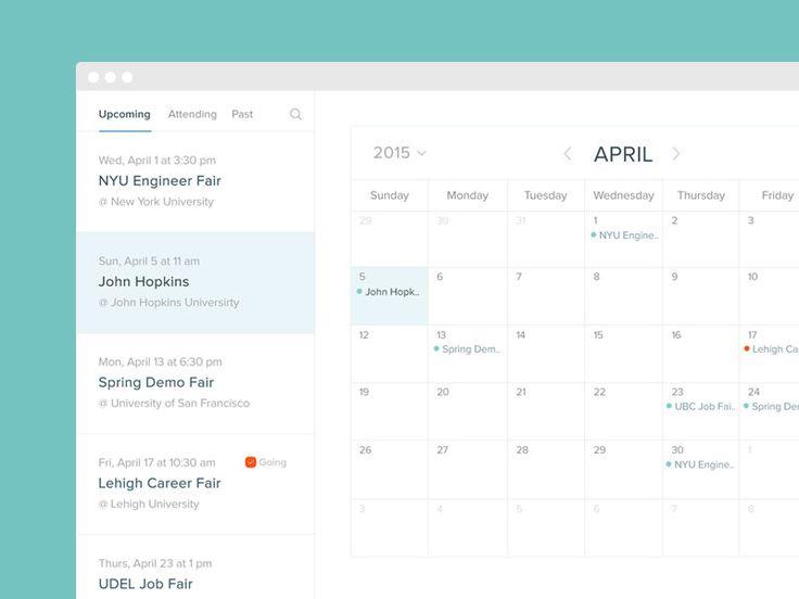 Event Calendar Ui Design : Calendar of events ui ux and design