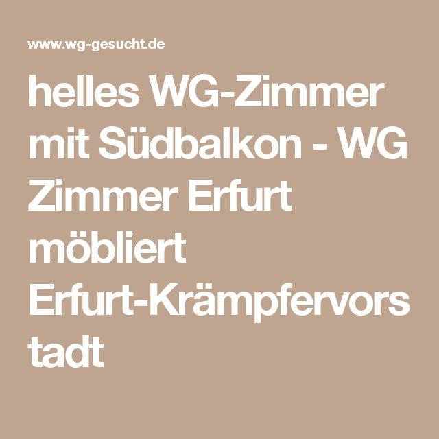 helles WG-Zimmer mit Südbalkon - WG Zimmer Erfurt möbliert Erfurt-Krämpfervorstadt