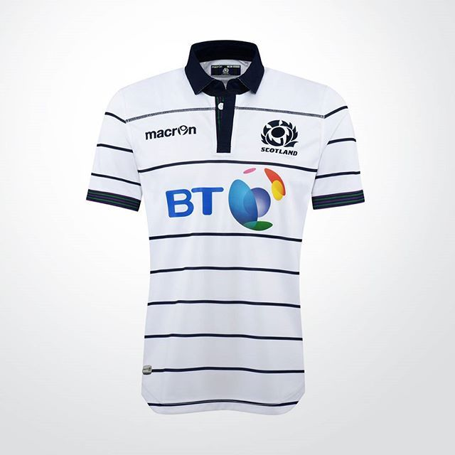 Světlá verze skotského dresu pro 6 Nations / And here we are with the white version of Scottish kit #ragby #sport #dres #design #cesky #czech #blog #skotsko #scotland #teamscotland #rugby #sixnations #rbs6nations #kit #jersey