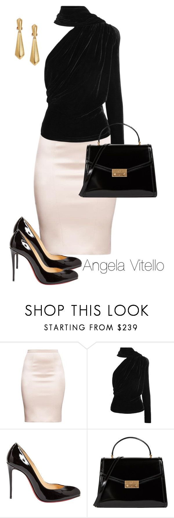 """Untitled #1030"" by angela-vitello on Polyvore featuring Gareth Pugh, Christian Louboutin, Tory Burch and Oscar de la Renta"