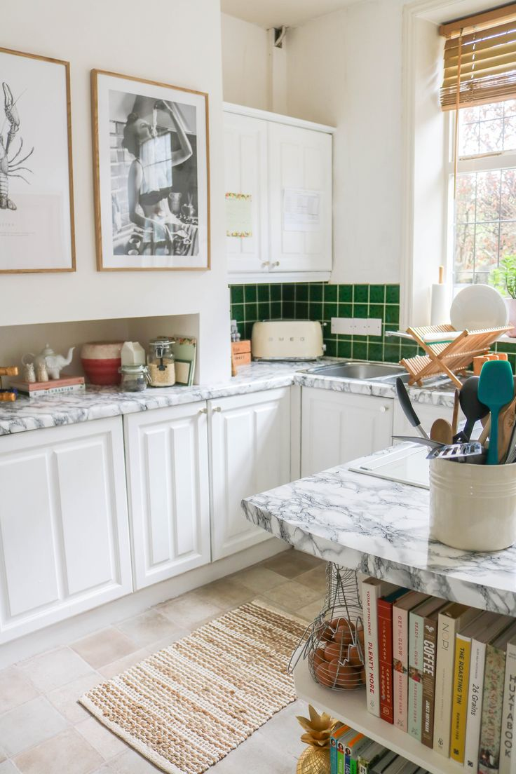 how to apply contact paper to your kitchen counters in