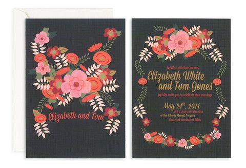 Boho Blooms Invite – Jo's Paperie #wedding #invitations #floral #template