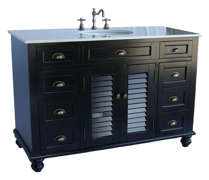 Vintage Light Blue Cottage Style Glennville Bathroom Sink