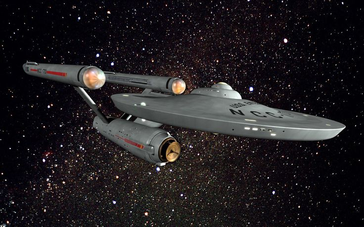 Reminiscing... Star Trek and remembering as early as 3 years old, hearing the theme song come on and running to my mom anticipating the ride as she'd hold me in flying position, arms stretched out, and with each pass of the Enterprise she'd swish me from one side to the other. *smiling*