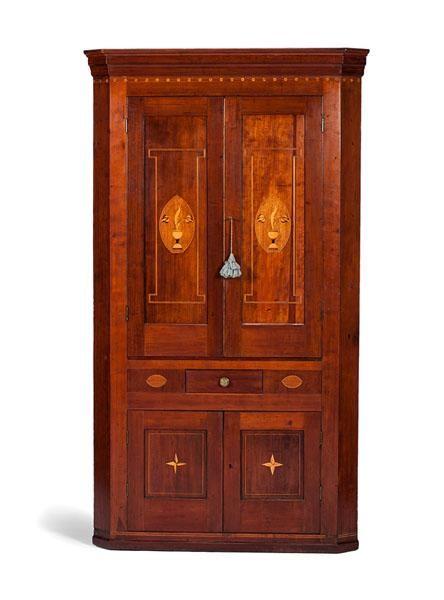 Kentucky Inlaid Corner Cupboard - Price Estimate: $2000 - $3000