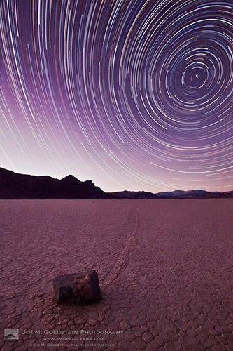 From Jim Goldstein...: Death Valley, Photography Travel, Stars Trail, Racetrack Stars, Desert Photography, Beautiful Stars, Landscape Photography, Travel Photography, Purple Sky